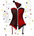 carnival corset vector image vector image