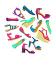round composition with summer shoes vector image
