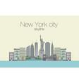 skyline of new york city vector image