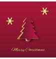 Christmas Tree Paper Art vector image vector image