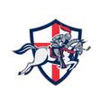 english knight golf club lance shield retro vector image vector image