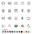 Collection Icons set Communication vector image