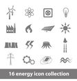 16 energy icons collection vector image