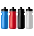 Set realistic sports water bottles vector image