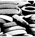 Grunge background with black tire track vector image vector image