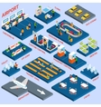 Airport Isometric Concept vector image vector image