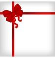 Elegant red satin ribbon vector image
