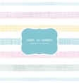 Abstract textile colorful stripes frame seamless vector image