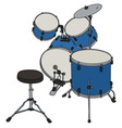 Blue percussion set vector image
