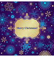 Christmas greeting card with lacy snowflakes vector image