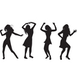 dancing girls vector image