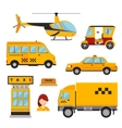 Different types of taxi transport Cars vector image