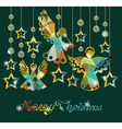 Merry Christmas card with Angels vector image
