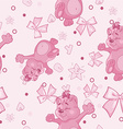 Pattern for Newborn Girl vector image
