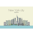 skyline of new york city vector image
