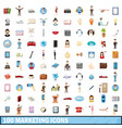100 marketing icons set cartoon style vector image