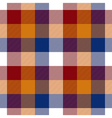 Red orange blue white check seamless pattern vector image