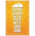 Beer Glass Logo Design Concept Slogan Background vector image