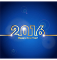 2016 Happy New Year blue background with spot vector image