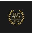 Best team award vector image