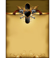 ornate golden frame with guns vector image vector image