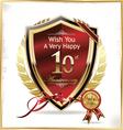 Anniversary golden shield vector image