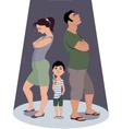 Divorce hurts children vector image
