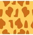 Giraffe fur texture background vector image
