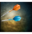 Grunge background with darts vector image