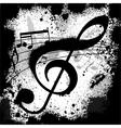 Ink blots treble clef vector image