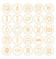 Line Circle Education Icons Set vector image