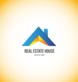 Real estate house roof home logo vector image