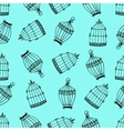 Seamless pattern with birdcages vector image