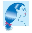 Woman with hairstyle vector image