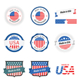Made in USA labels badges and stickers vector image vector image