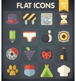 Universal Flat Icons for Applications Set 15 vector image