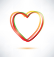classic heart symbol made of ribbons icon vector image