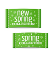 New spring collection clothing labels vector image vector image