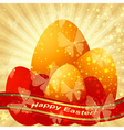 Easter greeting gold card vector image