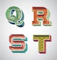 Alphabet retro vector image