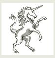 Rampant Unicorn vector image