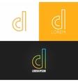 letter D logo alphabet design icon set background vector image