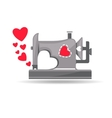 From sewing machine with love vector image vector image