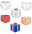 Cartoon set of gifts eps10 vector image