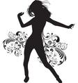 dancing lady vector image