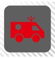Emergency Car Rounded Square Button vector image