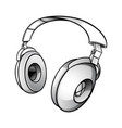 modern dj headphones vector image