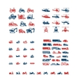 Set color icons of transport vector image