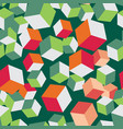 cube seamless pattern block volume vector image