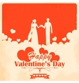 Retro Love Background vector image